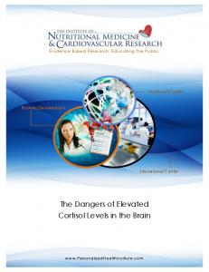 The Dangers of Elevated Cortisol Levels in the Brain