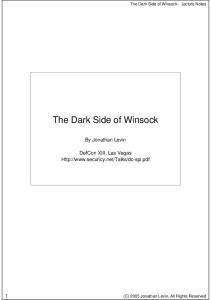 The Dark Side of Winsock