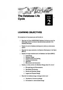 The Database Life Cycle