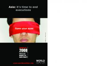The death penalty in Asia. The World Day Against the Death Penalty