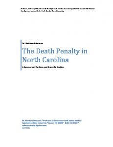 The Death Penalty in North Carolina