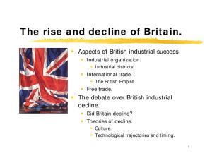 The debate over British industrial decline