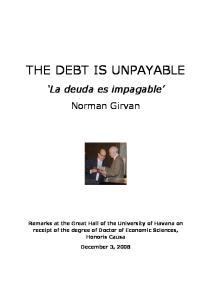 THE DEBT IS UNPAYABLE