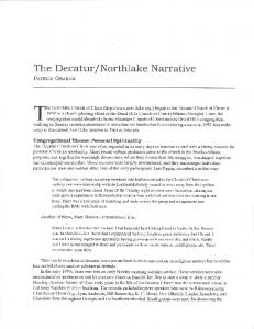 The Decatur lnorthlake Narrative