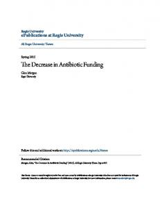 The Decrease in Antibiotic Funding