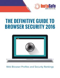 The Definitive Guide to Browser Security 2016