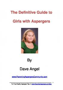 The Definitive Guide to. Girls with Aspergers