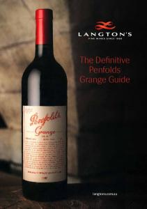 The Definitive Penfolds Grange Guide