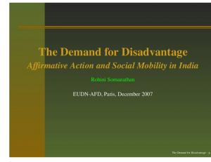 The Demand for Disadvantage