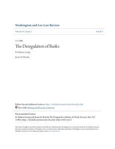 The Deregulation of Banks