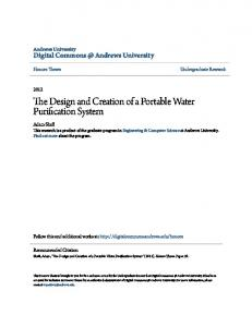 The Design and Creation of a Portable Water Purification System