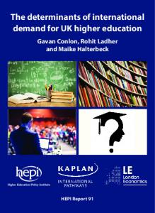 The determinants of international demand for UK higher education