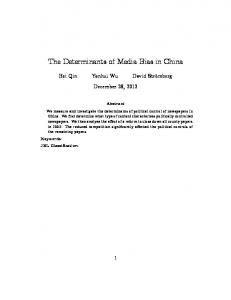The Determinants of Media Bias in China