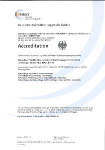 The Deutsche Akkreditierungsstelle GmbH attests that the testing laboratory