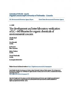The development and inter-laboratory verification of LC MS libraries for organic chemicals of environmental concern