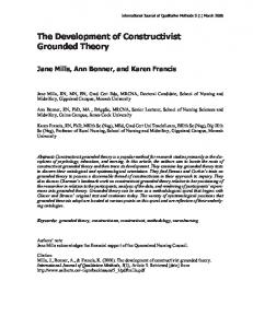 The Development of Constructivist Grounded Theory