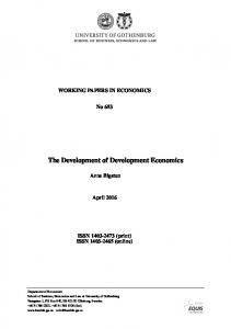 The Development of Development Economics