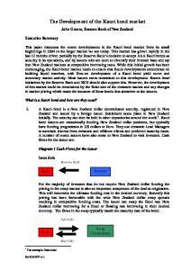 The Development of the Kauri bond market