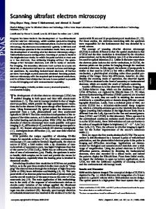 The development of ultrafast electron microscopy (UEM) has