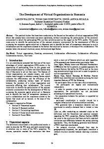 The Development of Virtual Organizations in Romania