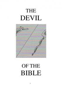 THE DEVIL OF THE BIBLE