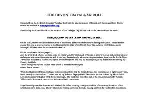 THE DEVON TRAFALGAR ROLL