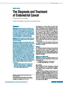 The Diagnosis and Treatment of Endometrial Cancer Progress and Controversies