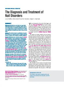 The Diagnosis and Treatment of Nail Disorders