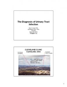 The Diagnosis of Urinary Tract Infection
