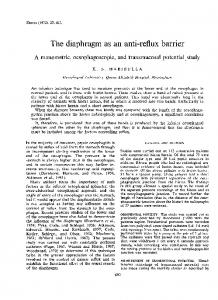 The diaphragm as an anti-reflux barrier