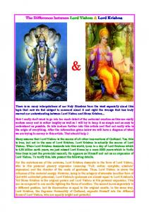 The Difference between Lord Vishnu & Lord Krishna