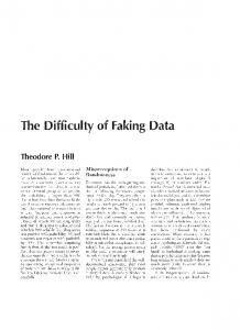 The Difficulty of Faking Data