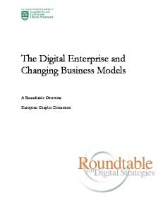 The Digital Enterprise and Changing Business Models