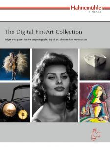 The Digital FineArt Collection. InkJet artist papers for fine art photography, digital art, photo and art reproduction