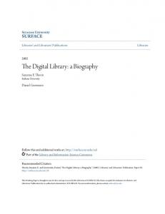The Digital Library: a Biography