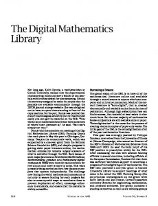 The Digital Mathematics Library