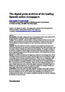 The digital press archives of the leading Spanish online newspapers