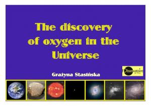 The discovery of oxygen in the Universe