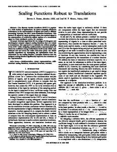 THE DISCRETE wavelet transform (DWT) is popular in a
