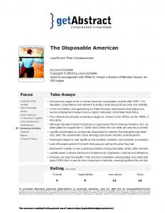 The Disposable American
