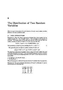 The Distribution of Two Random Variables