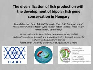 The diversification of fish production with the development of bipolar fish gene conservation in Hungary