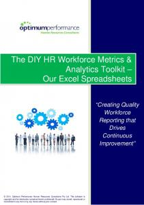 The DIY HR Workforce Metrics & Analytics Toolkit Our Excel Spreadsheets