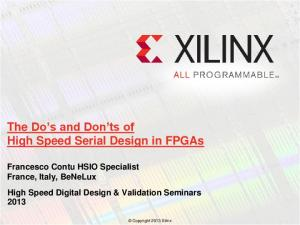The Do s and Don ts of High Speed Serial Design in FPGAs