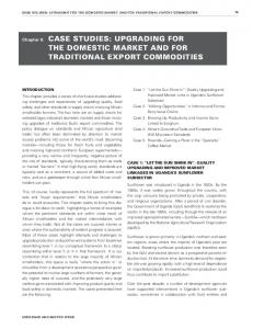 THE DOMESTIC MARKET AND FOR TRADITIONAL EXPORT COMMODITIES