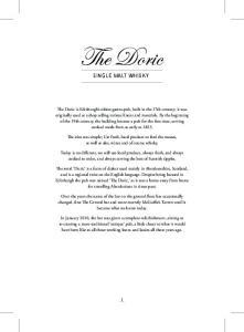 The Doric SINGLE MALT WHISKY