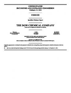 THE DOW CHEMICAL COMPANY (Exact name of registrant as specified in its charter)