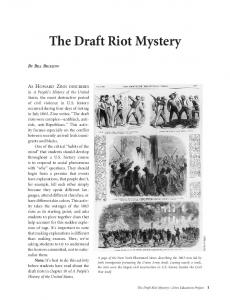 The Draft Riot Mystery