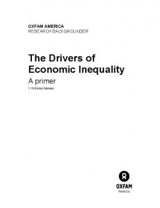 The Drivers of Economic Inequality