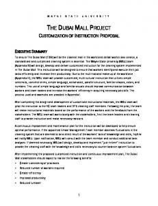 THE DUBAI MALL PROJECT